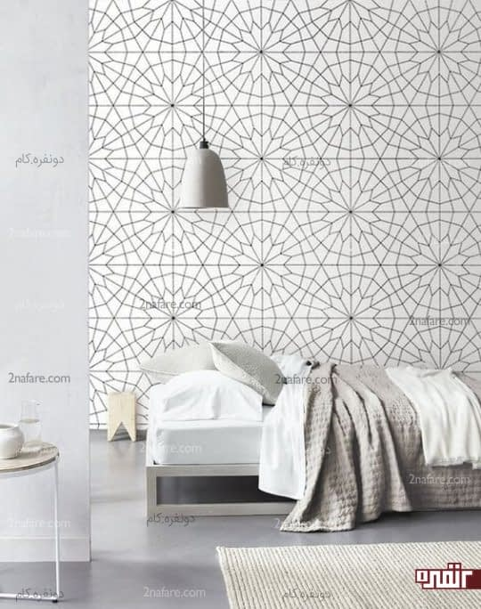 کاغذ دیواری با طرح های هندسی مناسب فضاهای کوچک