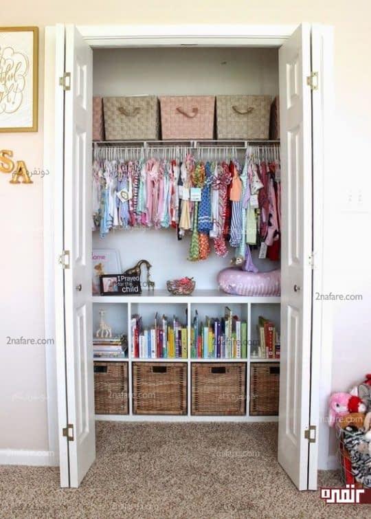 کمد لباس اتاق کودک با فضای جادار