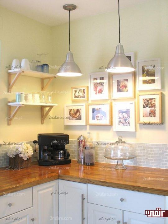 گالری دیواری زیبا در آشپزخانه