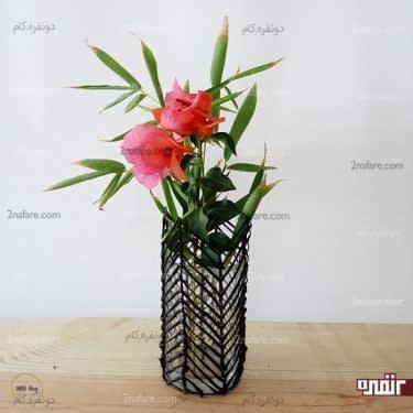 گلدان شیشه ای با روکش ساخته شده توسط چسب حراراتی