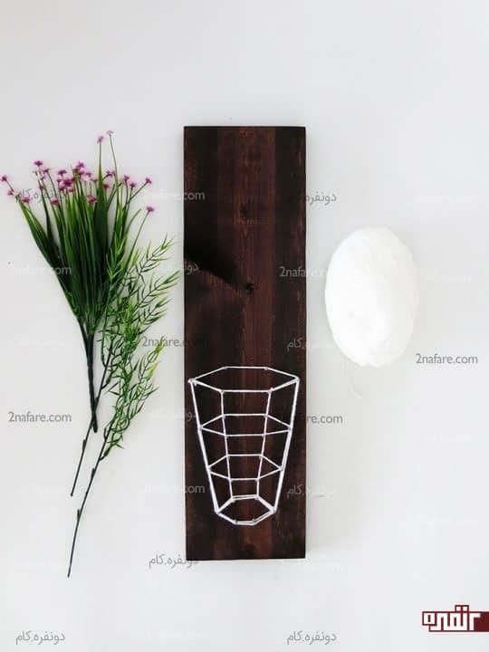 گلذان سه بعدی روی تابلو