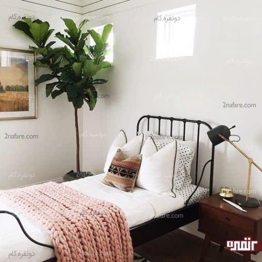 گل های زیبا در اتاق خواب
