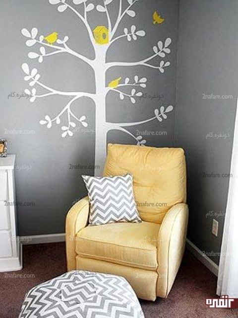 یه فضای آرام و دلنشین مخصوص والدین در اتاق نوزاد