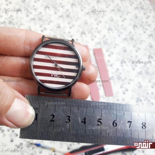 اندازه گرفتن صفحه ساعت
