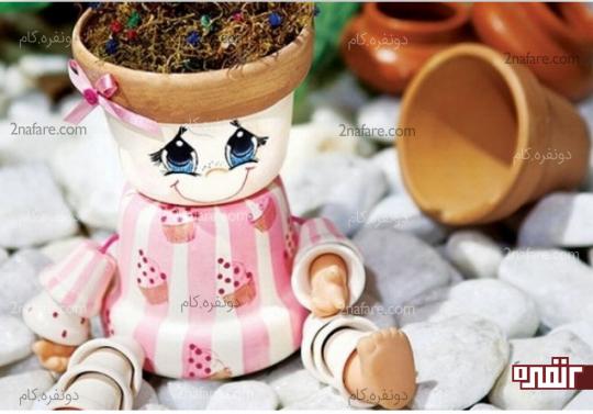 درست کردن گل سر با ربان برای عروسک گلدونی
