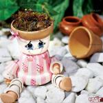 آموزش ساخت عروسک گلدونی
