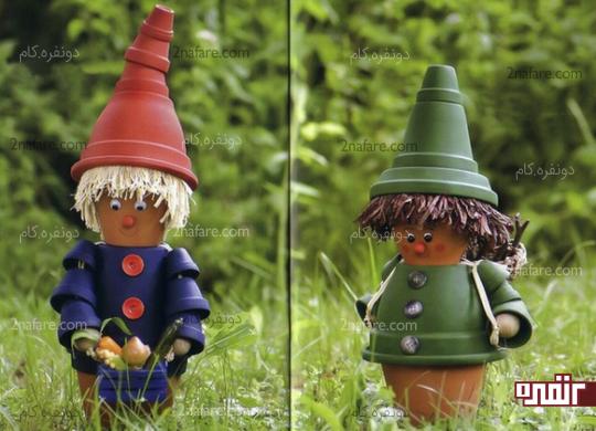 عروسک های گلدونی مترسکی