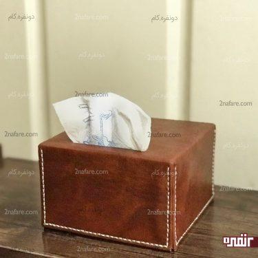 جعبه دستمال کاغذی چرمی