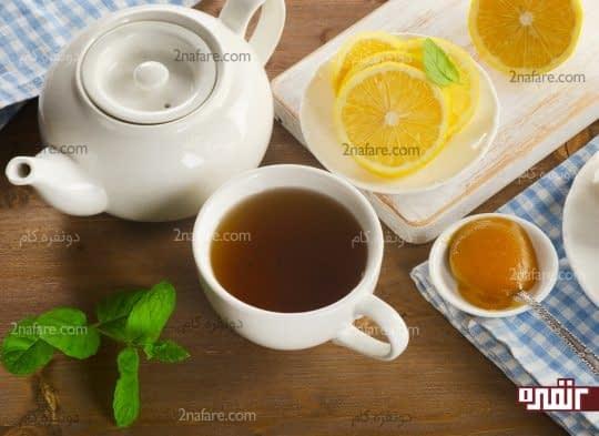 چای لیمو برای درمان خانگی خلط سینه