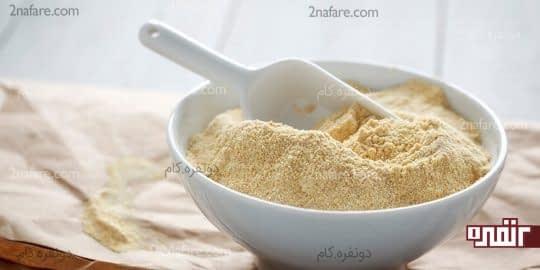 آرد نخود برای رفع تیرگی زانو و آرنج