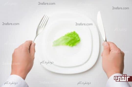 در خوردن غذا زیاده روی نکنید