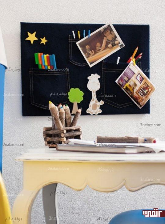 درست کردن تابلو با جین برای اتاق بچه ها