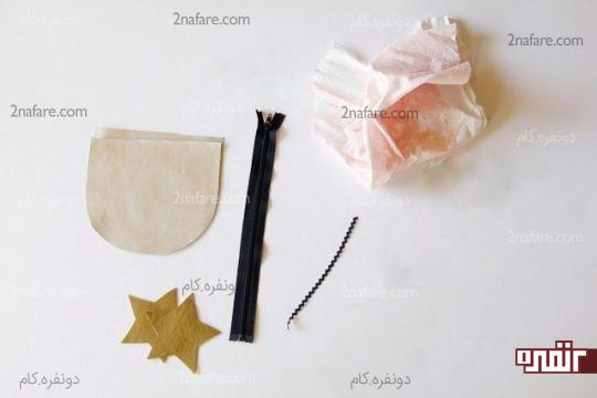 وسایل مورد نیاز برای دوخت کیف زیپ دار