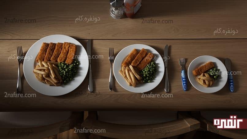 وعده های غذایی کوچک راحت تر هضم میشن