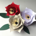 آموزش ساخت گل کاغذی ساده با الگو