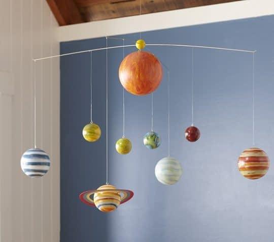 آویزی با طرح سیاره های منظومه ی شمسی