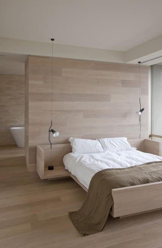 اتاق خوابی با رنگ های یکنواخت و خسته کننده