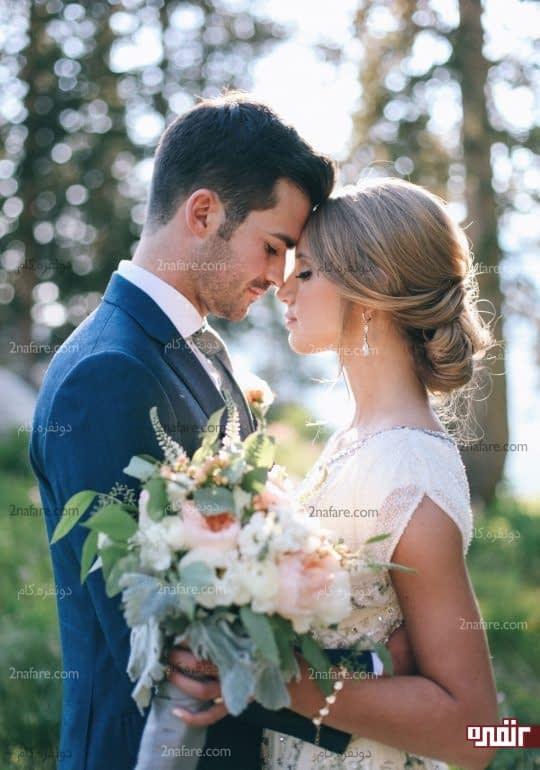 استفاده از دسته گل عروس در عکس