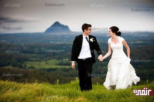 استفاده از فضای باز ژست عروس داماد