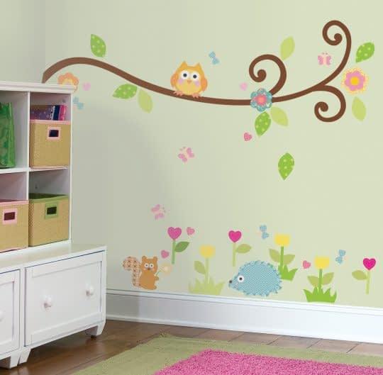 برچسب زیبای اتاق کودک