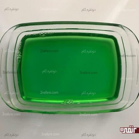 بستن ژله سبز