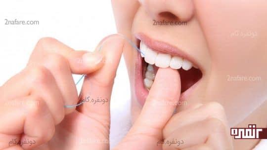 بهترین زمان استفاده از نخ دندان