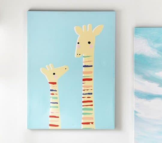 تابلوی زیبا با طرح و رنگی دلنشین برای تزیین اتاق کودک