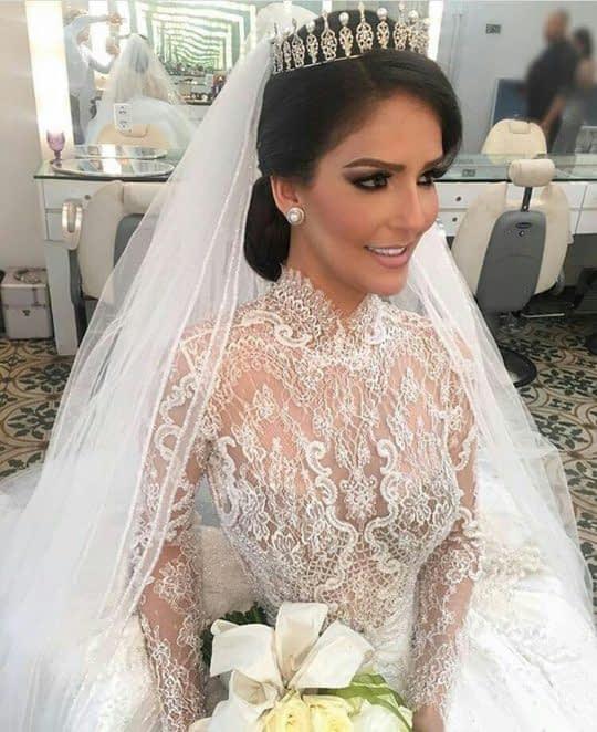 تاج مروارید دار عروس