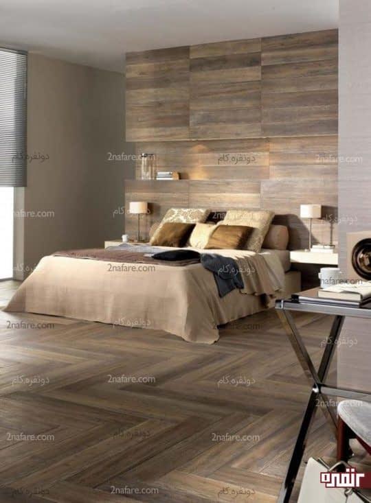 تزیین دکور اتاق خواب با استفاده از چوب
