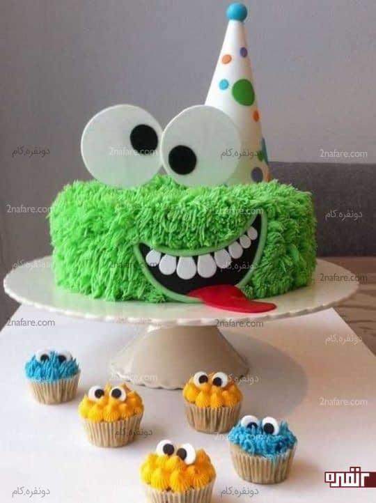 تزیین زیبای کیک تولد پسرونه