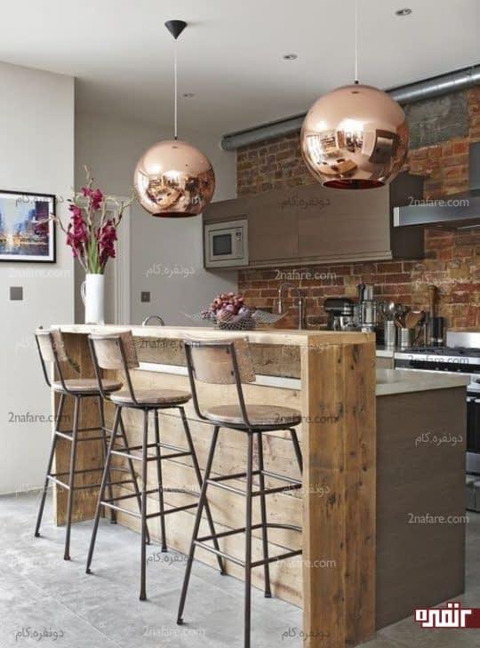 تزیین فضای آشپزخونه با انتخاب حباب مسی برای لامپ
