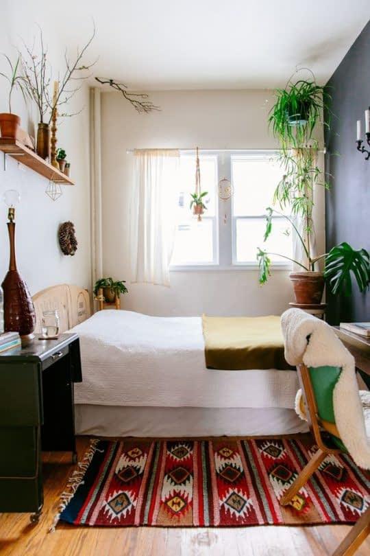 تلفیق سبک های بوهو و مینیمال در دکوراسیون اتاق خواب