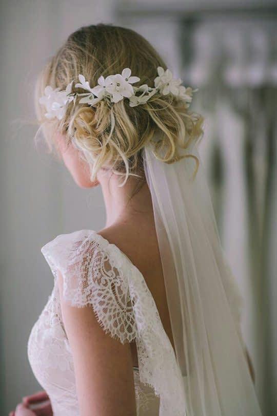 تور بلند عروس زیر شینیون