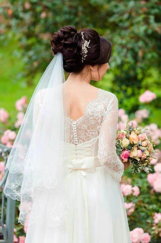 تور عروس زیر مو