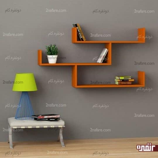 جذابیت بیشتر دیوارها با شلف و قفسه های چوبی