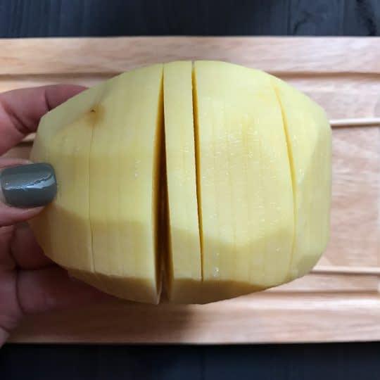 حلقه حلقه بریدن سیب زمینی