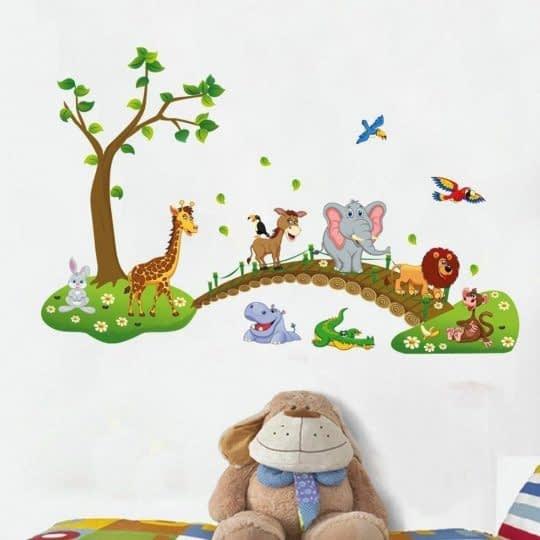 حیوانات زیبا و رنگارنگ برای تزیین دیوار اتاق کودک