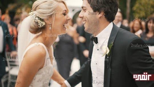 خوشی و حس شادابی در روز عروسی