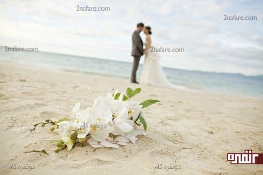 دسته گل عروس در عکاسی
