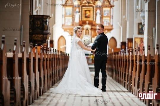 دسته گل عروس در عکس
