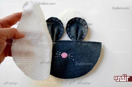 روی هم قرار دادن لایه های قسمت کفی پاپوش