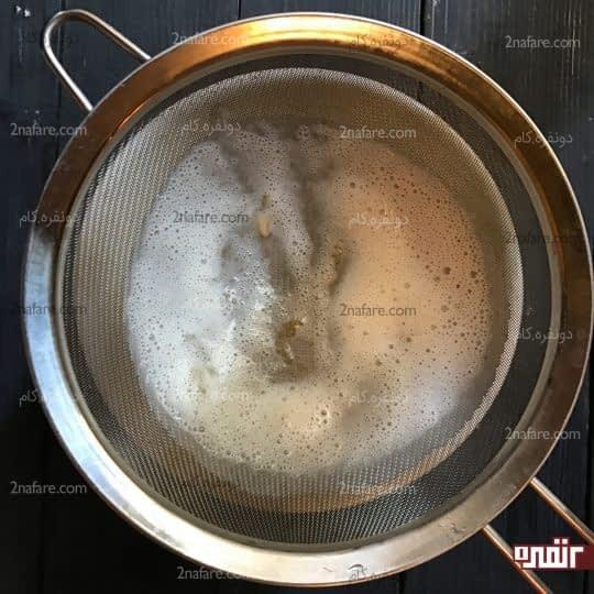 رد کردن مایع از صافی