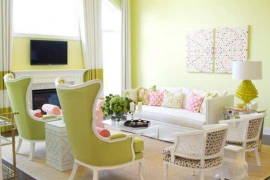رنگ های روشن برای اتاق نشیمن