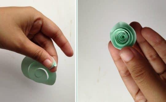 رول کردن کاغذ به شکل گل