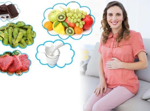 رژیم غذایی ماه اول بارداری