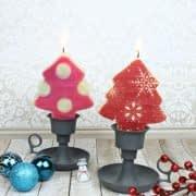 ساخت شمع درختی مخصوص کریسمس و نوروز