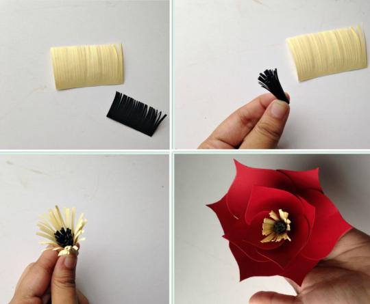 ساخت پرچم و چسباندن داخل گل