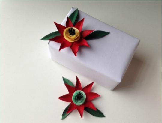 ساخت گل کاغذی برای تزیین کادو