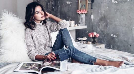 شلوار جین برای خانمها در عکاسی