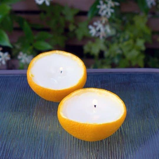 شمع با عطر پرتقال